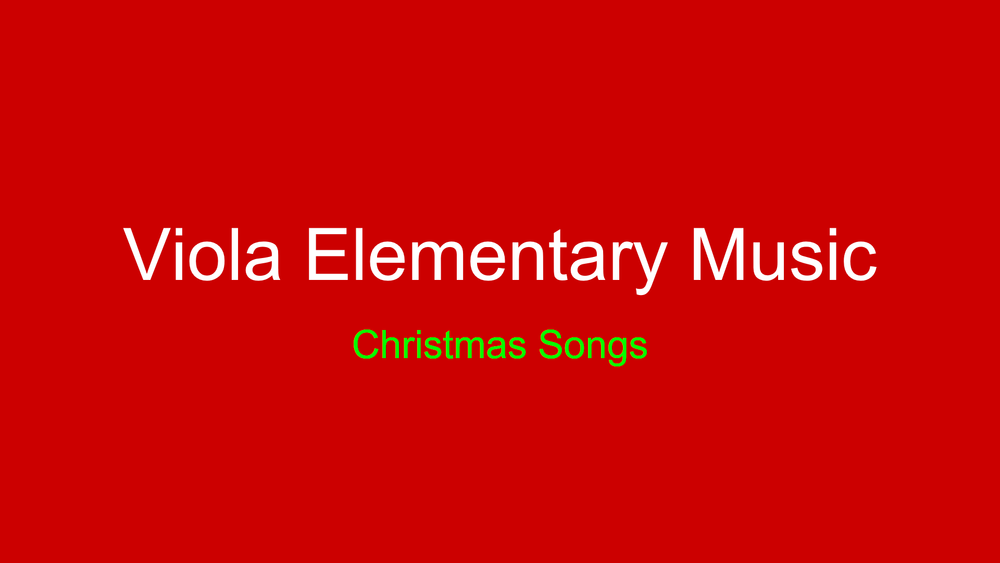 Viola Elementary Christmas Music and Art 2020